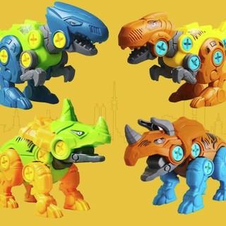 千北 拼装恐龙模型 四个装合集+螺丝刀