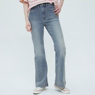 Gap 盖璞 女装复古高腰牛仔喇叭裤699021夏季2021新款女士宽松阔腿长裤