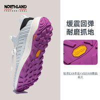 NORTHLAND 诺诗兰 休闲低帮鞋女士2021春夏新款轻便透气防滑跑步鞋NLSBT2103S