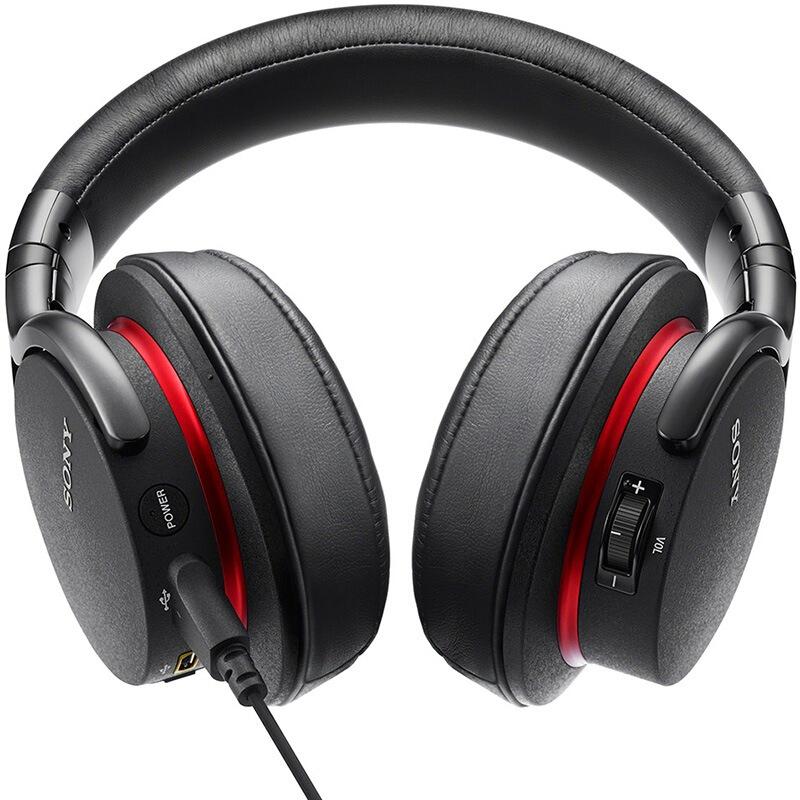 SONY 索尼 MDR-1ADAC/M 耳罩式头戴式动圈有线耳机 黑色 3.5mm