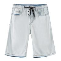Meters bonwe 美特斯邦威 255317 男式直筒牛仔短裤