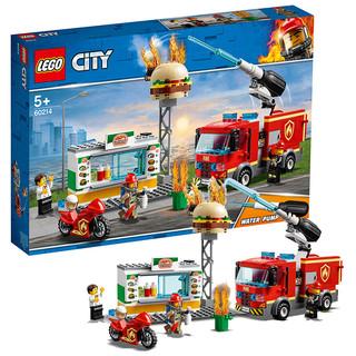 88vip : LEGO 乐高 进口积木城市系列汉堡店消防救援 60214儿童益智积木