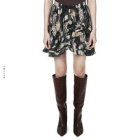 IRO 饰荷叶边印花半身裙