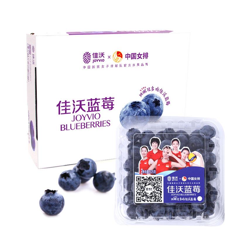 JAVA 佳沃 国产蓝莓原箱 约125g/盒 12盒装