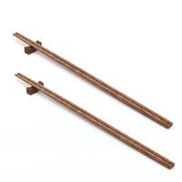 巴拉熊 加长筷子油炸防烫火锅筷子家用超长捞面炸油条的公筷免邮实木特长 32cm鸡翅木2双