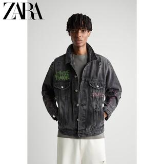 ZARA [折扣季]男装 印花牛仔夹克外套 06987470800