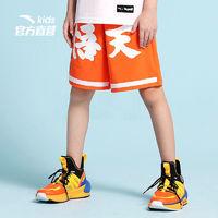 ANTA 安踏 七龙珠男童夏装裤子中大童卡通五分裤宽松运动短裤