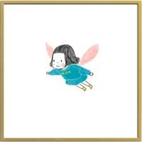 buybuyART 买买艺术 何菲菲《和女儿幸福的瞬间系列-飞行时间》50×50cm 艺术版画 背景墙装饰画