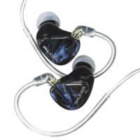 SHUOER 铄耳 EJ09 入耳式挂耳式圈铁有线耳机 蓝色 4.4mm