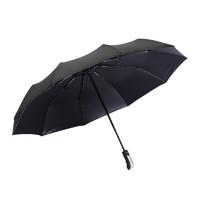 鹤吟川 全自动10骨黑胶雨伞