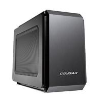 COUGAR 骨伽 QBX ITX机箱 非侧透 黑色