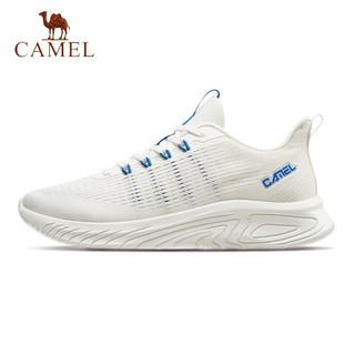 CAMEL 骆驼 运动鞋男鞋轻便休闲透气情侣款慢跑鞋子耐磨跑步鞋 A11230L4595 男款白色42