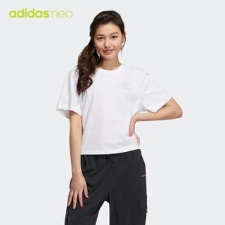 adidas 阿迪达斯 官网 adidas neo 女装夏季运动短袖T恤GP7116
