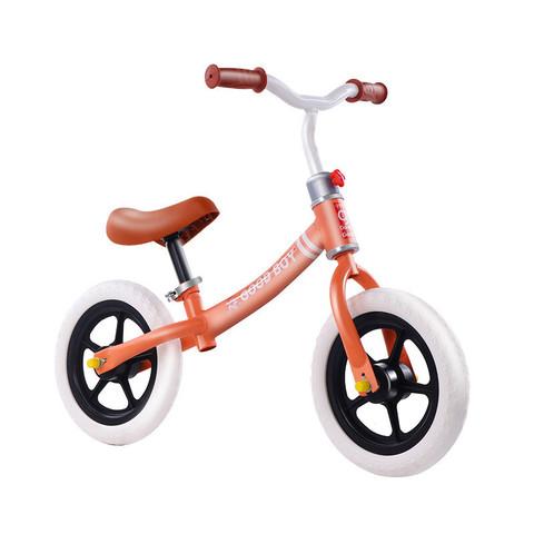 Chunyeying 春野樱 儿童平衡车无脚踏1.5-6岁小孩滑步车高碳钢宝宝学步发泡轮滑行车滑步车无脚踏自行车 橘色