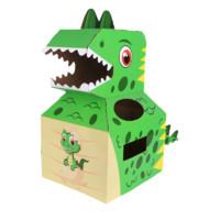 尼淘乐 儿童diy手工纸箱恐龙玩具
