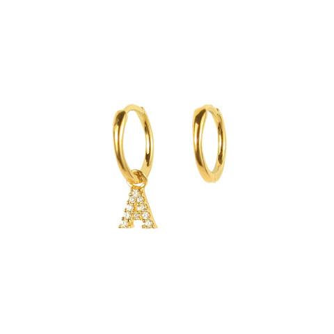 APM Monaco 618狂欢日:【直营】APM MONACO不对称金色字母耳环耳饰气质女士AE11748OXYA