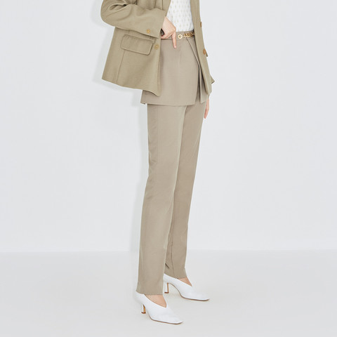 ochirly 欧时力 黑标系列 欧时力2021新款春装金属链短裙西装裤套装女1NH1065460