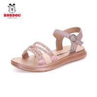 BoBDoG 巴布豆 210512095 女童公主风吊坠凉鞋 粉色 29码