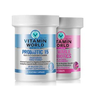 VITAMIN WORLD 益生菌组合装 30粒*2瓶