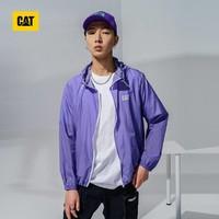 CAT 卡特彼勒 21新款抗UV防晒面料连帽收缩logo印花防晒服