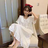 叶莎倩可爱日系甜美娃娃领公主风睡裙女夏季2021年新款睡衣连衣裙家居服
