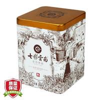 七彩云南 庆沣祥 普洱茶 熟茶 名门普洱 普洱散茶 铁罐装 200克