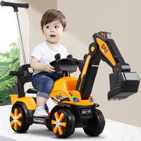 智想 儿童电动挖掘机可坐可骑人大号小孩挖土机玩具车宝宝工程车玩具模型音乐2-3-6岁玩具男孩挖机