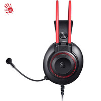 双飞燕 (A4TECH) G200S 血手幽灵 吃鸡耳机游戏头戴式耳机耳麦话筒降噪 黑红色