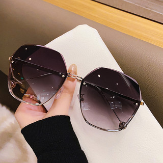 WAXY 墨镜女太阳眼镜韩版潮防紫外线大脸显瘦时尚眼镜