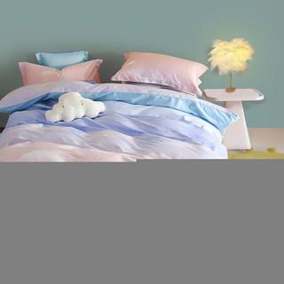 Bliss 百丽丝家纺 百丽丝水星家纺出品 全棉四件套 ins风云朵 纯棉套件 床单被套 被罩床上用品