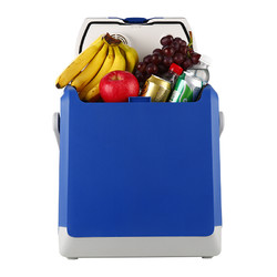 Tingwei 婷微 CB-24 24L蓝色车载冰箱 半导体车家两用冷暖箱 户外野餐迷你小冰箱保鲜箱(内赠冰袋×2)