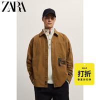 ZARA 01538416707 男装印花衬衫夹克外套