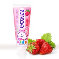 Kao 花王 日本进口 花王(KAO)儿童木糖醇可吞咽护齿牙膏草莓味 70g/支 强健牙齿 清洁牙垢