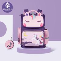 kocotree kk树 -KK树儿童书包一到三六年级超轻护脊幼儿园男孩女孩小学生卡通可爱 粉色独角兽 M