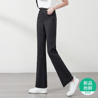 ESE-Y 逸阳 休闲裤女修身弹力喇叭裤女显瘦微喇裤女裤子女