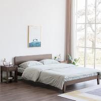 6日0点:优木家具 北欧简约实木双人床 1.2m