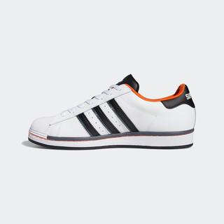 adidas Originals 阿迪达斯官网adidas 三叶草 SUPERSTAR男子致敬球场款经典运动鞋FV8271 白/一号黑/橙黄 40.5(250mm)