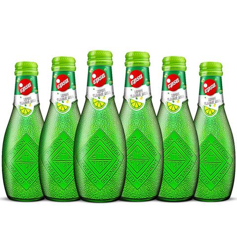哇尔塔 希腊进口哇尔塔Epsa柠檬果汁汽水饮料232ml*6瓶 高颜值气泡水玻璃瓶装饮品