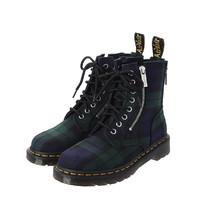 Dr.Martens 马丁大夫 26212758 格纹拉链装饰马丁靴