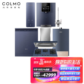 COLMO 家用洗碗机热水器油烟机燃气灶管线机净水器套装 S83+QF6+B6+V7p+DA01+卢浮高端家庭装修六件套