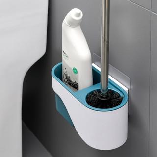 up-hunceo 吸壁式马桶刷架浴室清洁刷套装家用洁厕所刷收纳架卫生间置物架 午夜蓝 通用型