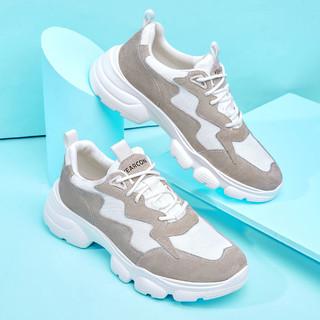 YEARCON 意尔康 新款潮流拼接运动休闲鞋男士休闲鞋男士老爹鞋运动鞋夏季透气男鞋