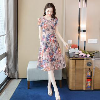 丝柏舍 新款复古修身显瘦短袖改良旗袍裙子