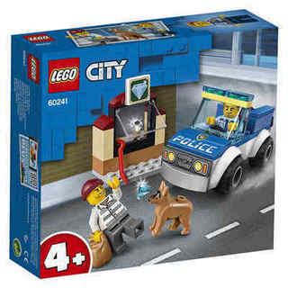 LEGO 乐高 城市系列60241警犬突击队男孩儿童益智拼插积木玩具礼物