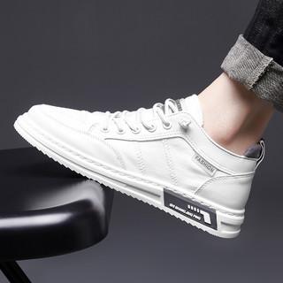 oulisasi 欧利萨斯 21春季新款潮流时尚板鞋布鞋小白鞋潮男鞋子男士休闲鞋男鞋
