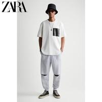 ZARA 00977425251 男装宽松拼接口袋短袖T恤