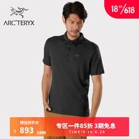 ARC'TERYX 始祖鸟 男子  PELION POLO  短袖POLO衫 Black/黑色 L(175/110A)