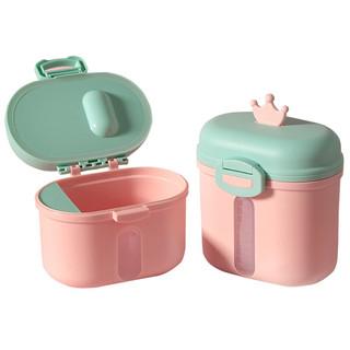 Enssu 樱舒 奶粉盒便携外出分装格 米粉盒子辅食储存罐密封防潮奶粉盒 小号草莓粉 ES1712