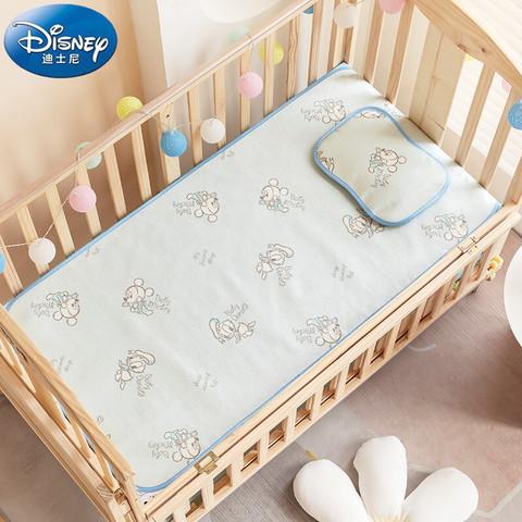 Disney baby 婴儿凉席儿童冰丝席宝宝午睡凉席床垫枕头夏季幼儿园凉席两件套