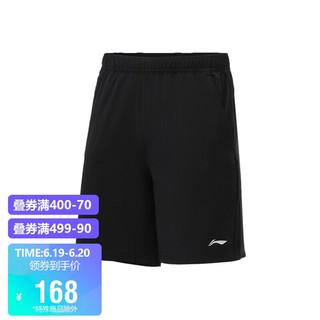 LI-NING 李宁 男装运动裤2021健身系列男子反光速干凉爽运动短裤AKSR449